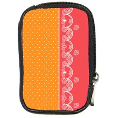 Lace Dots With Rose Gold Compact Camera Leather Case