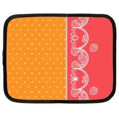 Lace Dots With Rose Gold Netbook Case (XXL)
