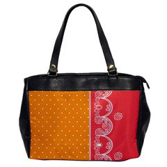 Lace Dots With Rose Gold Oversize Office Handbag (one Side)