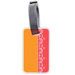 Lace Dots With Rose Gold Luggage Tag (one Side)