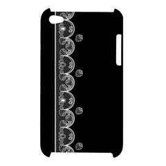 Strawberry Lace Black With White Apple iPod Touch 4G Hardshell Case