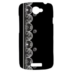 Strawberry Lace Black With White HTC One S Hardshell Case