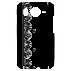 Strawberry Lace Black With White HTC Desire HD Hardshell Case