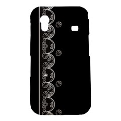 Strawberry Lace Black With White Samsung Galaxy Ace S5830 Hardshell Case