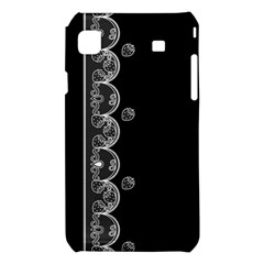 Strawberry Lace Black With White Samsung Galaxy S i9008 Hardshell Case