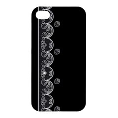 Strawberry Lace Black With White Apple iPhone 4/4S Premium Hardshell Case