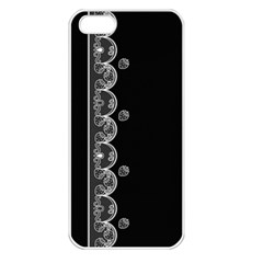 Strawberry Lace Black With White Apple Iphone 5 Seamless Case (white)