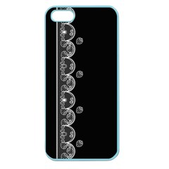 Strawberry Lace Black With White Apple Seamless iPhone 5 Case (Color)
