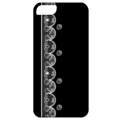 Strawberry Lace Black With White Apple iPhone 5 Classic Hardshell Case