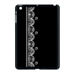 Strawberry Lace Black With White Apple Ipad Mini Case (black)