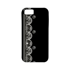 Strawberry Lace Black With White Apple iPhone 5 Classic Hardshell Case (PC+Silicone)