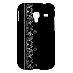 Strawberry Lace Black With White Samsung Galaxy Ace Plus S7500 Case