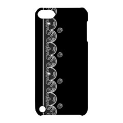 Strawberry Lace Black With White Apple Ipod Touch 5 Hardshell Case With Stand