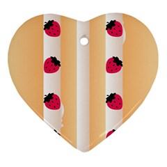 Origin Strawberry Cream Cake Ornament (heart)