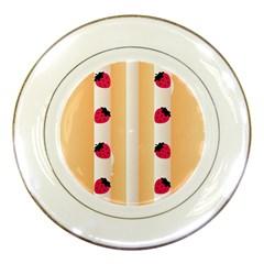 Origin Strawberry Cream Cake Porcelain Plate