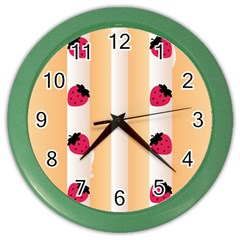 Origin Strawberry Cream Cake Color Wall Clock
