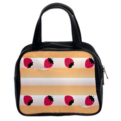 Origin Strawberry Cream Cake Classic Handbag (two Sides)
