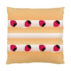 Origin Strawberry Cream Cake Cushion Case (two Sides)