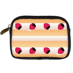 Origin Strawberry Cream Cake Digital Camera Leather Case