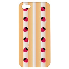 Origin Strawberry Cream Cake Apple Iphone 5 Hardshell Case