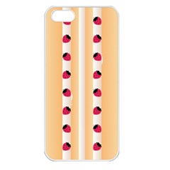Origin Strawberry Cream Cake Apple Iphone 5 Seamless Case (white)