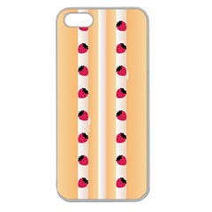 Origin Strawberry Cream Cake Apple Seamless iPhone 5 Case (Clear)