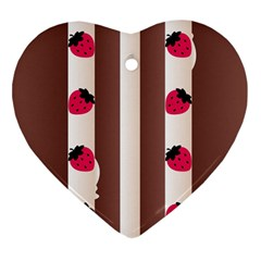 Choco Strawberry Cream Cake Ornament (Heart)