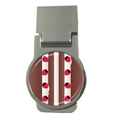 Choco Strawberry Cream Cake Money Clip (round)