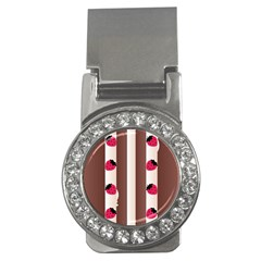 Choco Strawberry Cream Cake Money Clip (CZ)