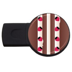 Choco Strawberry Cream Cake USB Flash Drive Round (1 GB)