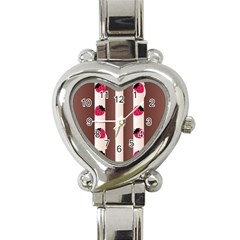 Choco Strawberry Cream Cake Heart Italian Charm Watch