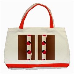 Choco Strawberry Cream Cake Classic Tote Bag (red)