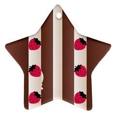 Choco Strawberry Cream Cake Star Ornament (Two Sides)