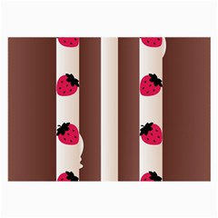 Choco Strawberry Cream Cake Glasses Cloth (Large, Two Sides)