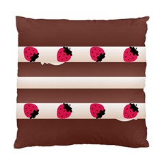 Choco Strawberry Cream Cake Cushion Case (One Side)