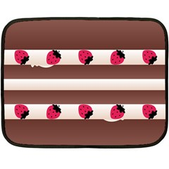 Choco Strawberry Cream Cake Mini Fleece Blanket(two Sides)