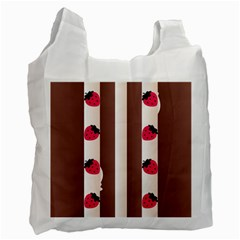 Choco Strawberry Cream Cake Recycle Bag (Two Side)
