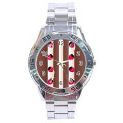 Choco Strawberry Cream Cake Stainless Steel Analogue Men's Watch