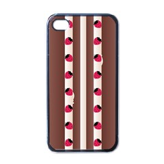 Choco Strawberry Cream Cake Apple Iphone 4 Case (black)