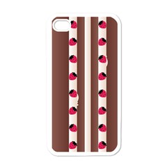 Choco Strawberry Cream Cake Apple iPhone 4 Case (White)