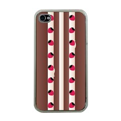 Choco Strawberry Cream Cake Apple iPhone 4 Case (Clear)