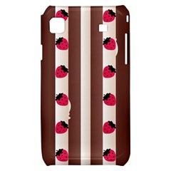 Choco Strawberry Cream Cake Samsung Galaxy S i9000 Hardshell Case