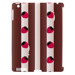 Choco Strawberry Cream Cake Apple iPad 3/4 Hardshell Case (Compatible with Smart Cover)