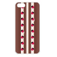 Choco Strawberry Cream Cake Apple Iphone 5 Seamless Case (white)