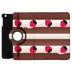 Choco Strawberry Cream Cake Apple Ipad Mini Flip 360 Case