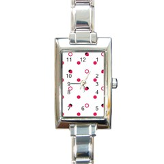 Strawberry Circles Pink Classic Elegant Ladies Watch (Rectangle)