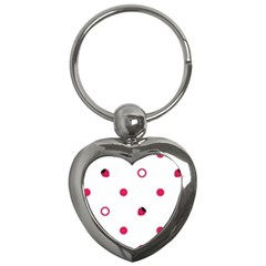 Strawberry Circles Pink Key Chain (heart)