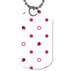 Strawberry Circles Pink Twin-sided Dog Tag