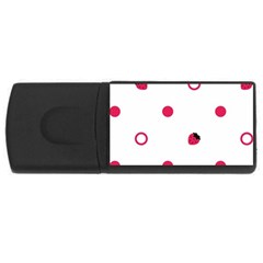Strawberry Circles Pink 2Gb USB Flash Drive (Rectangle)