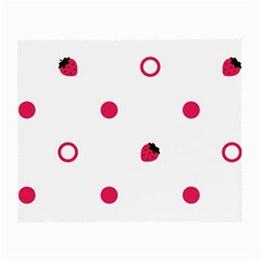 Strawberry Circles Pink Twin Sided Glasses Cleaning Cloth